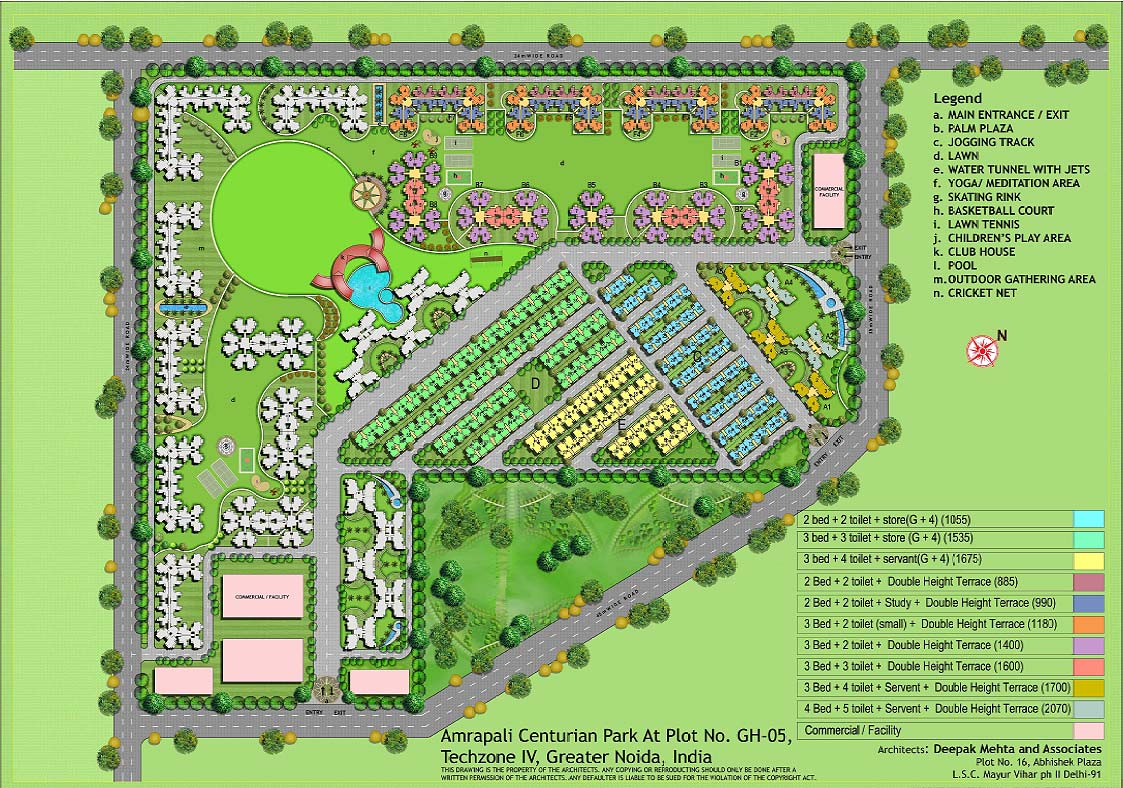 Amrapali terrace homes noida extension call 8800496210 for Home site plan